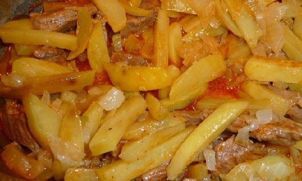 Азу с картошкой пошаговый рецепт