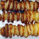 фото картофельного шашлыка