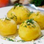 фото вареной картошки с укропом