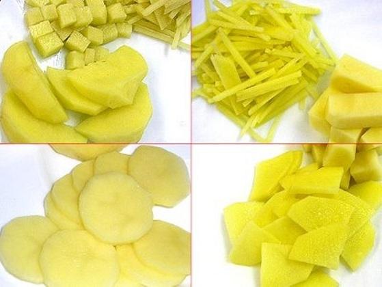 как нарезать картофель для жарки фото