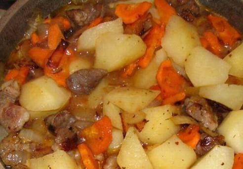 Картошка с тушенкой в духовке
