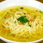 суп с картошкой и лапшой без мяса