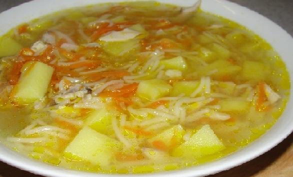 Суп из свинины с картошкой и вермишелью рецепт с пошагово в
