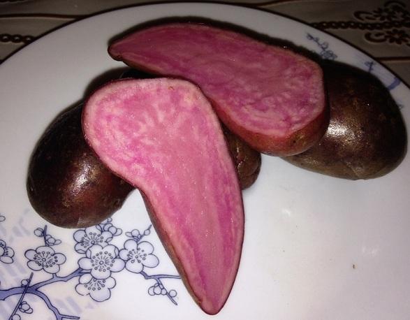 картофель с красной мякотью фото