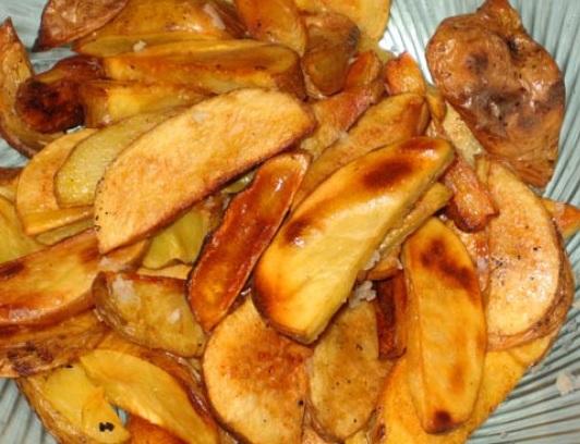 запекание картошки дольками