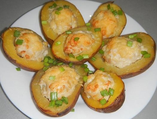 печеный картофель с начинкой фото