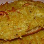 хлебные гренки с картошкой