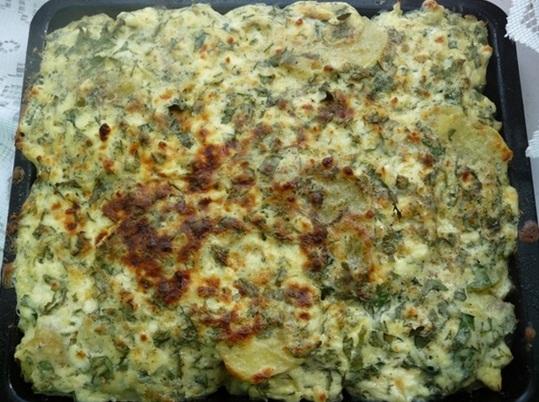 фото запеченной картошки с творогом в духовке