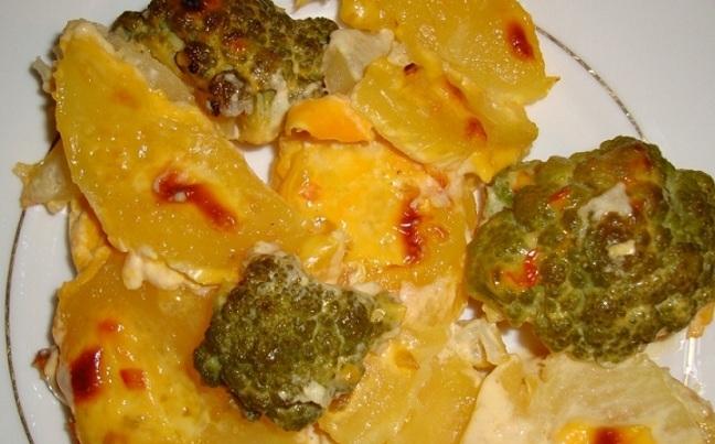 фото тушеной капусты брокколи с картошкой