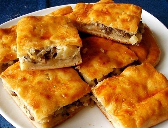 Пирог с сайрой и картофелем рецепт с