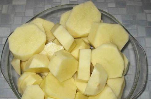 фото кусочков картофеля для обжарки в казане