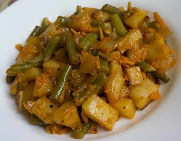 Рецепты картофель со стручковой фасолью