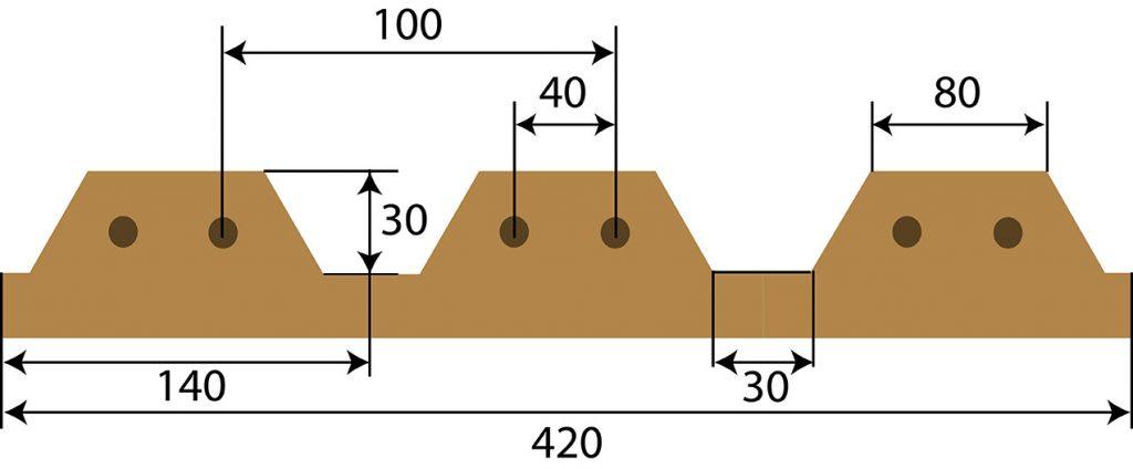 Схематическое изображение сдвоенных грядок в разрезе фото