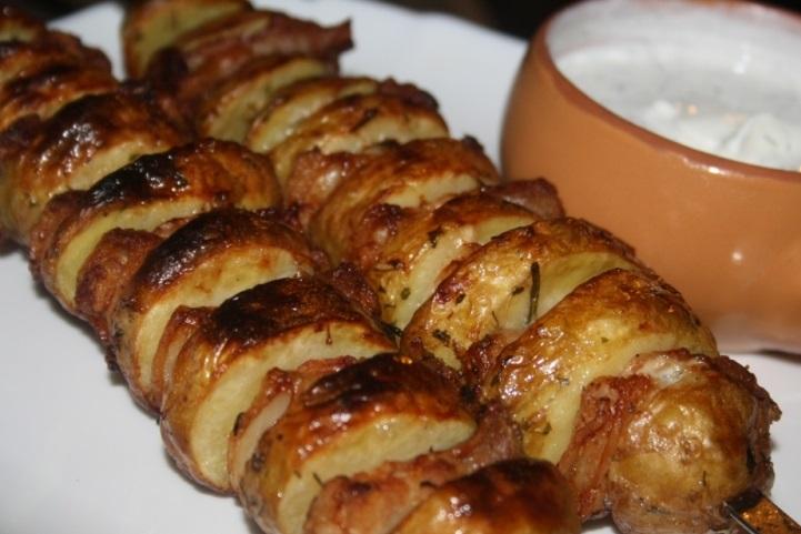 фото готового шашлыка из картошки