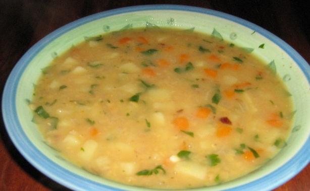 фото супа из красной чечевицы с картошкой