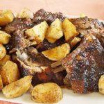 фото баранины с картошкой, приготовленой в духовке