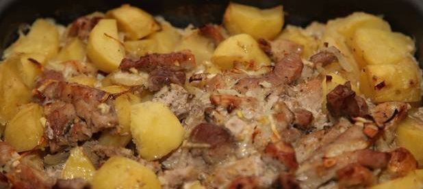 фото картошки с мясом в аэрогриле