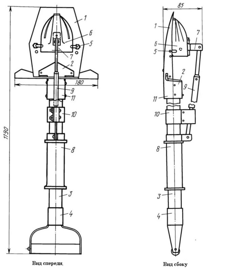 Картофелесажалка для культиватора своими руками размеры чертеж картинки 90