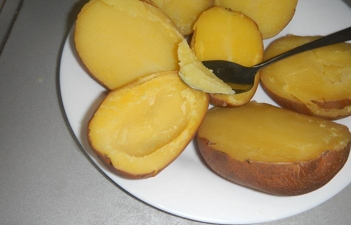 фото как правильно сделать лодочку из картофеля