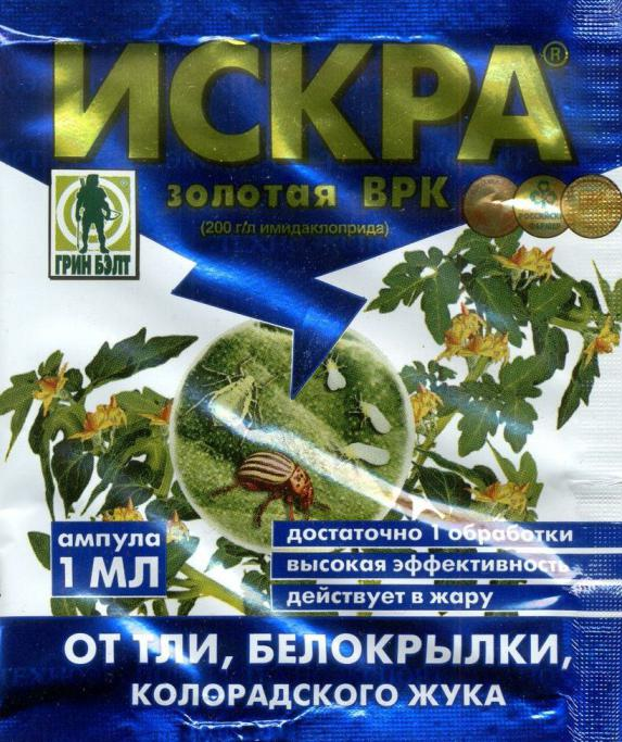 фото препарата искра от колорадского жука