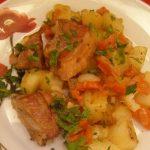 фото тушеного картофеля с копчеными ребрышками