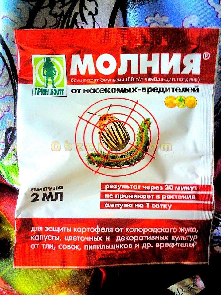 фото препарата молния от колорадского жука на картофеле