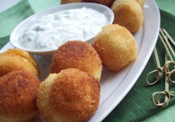 фото картофельных шариков с сыром из духовки