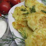 фото оладьей из кабачков и картошки