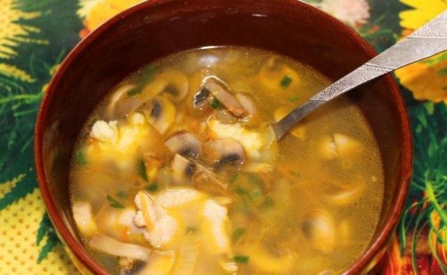 фото готового гречневого супа с картофельными клецками