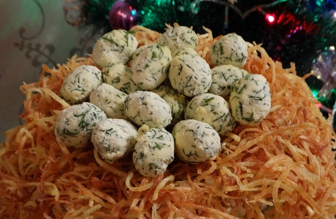 фото салата с картофелем Пай