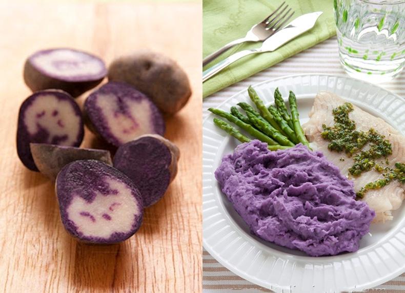 фото пюре из фиолетового картофеля