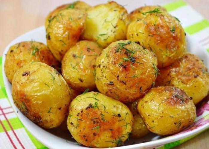 фото картошки в мундирах в духовке