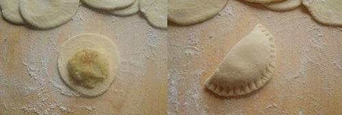 фото как приготовить вареники с сырой картошкой и сыром