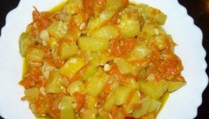 фото тушеной картошки с кабачками в мультиварке