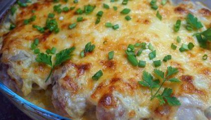 фото запеченной курицы и картошки в майонезе