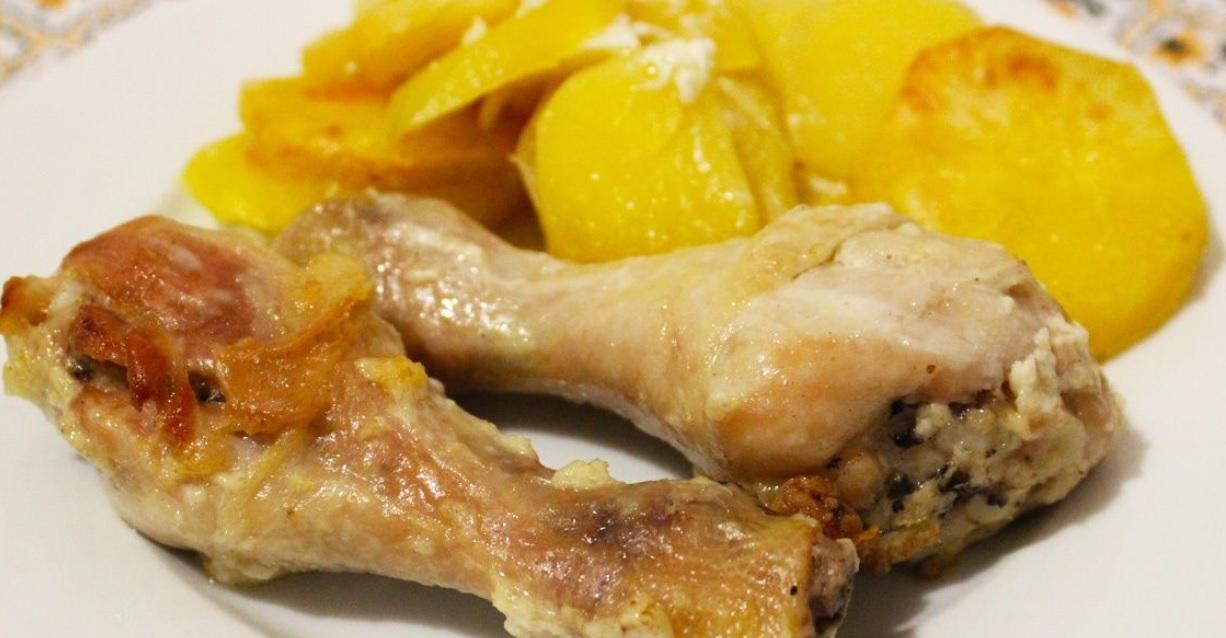 фото курицы с картошкой в майонезе