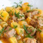 фото тушеного мяса с кабачками и картошкой