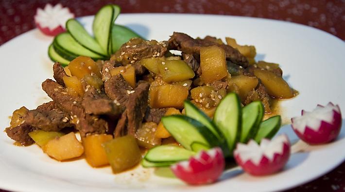 фото тушеных кабачков с мясом и картошкой