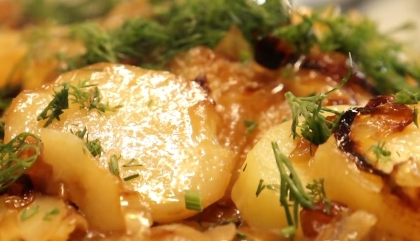 фото картошки с луком на сковородке