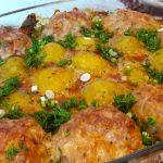 фото картофеля с котлетами в духовке