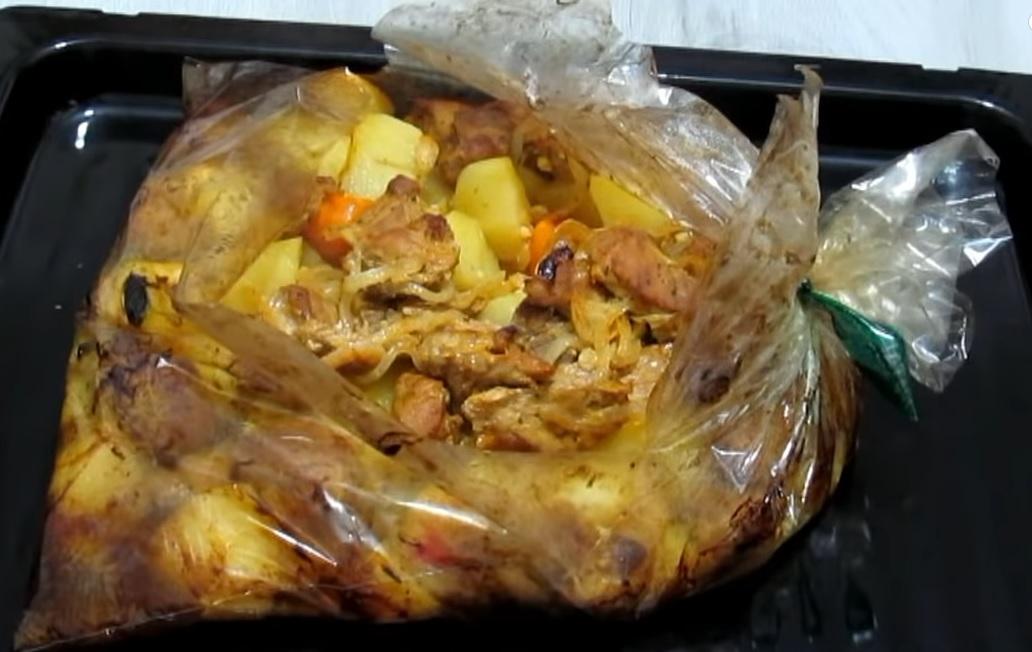 фото картошки с мясом в рукаве для запекания в духовке